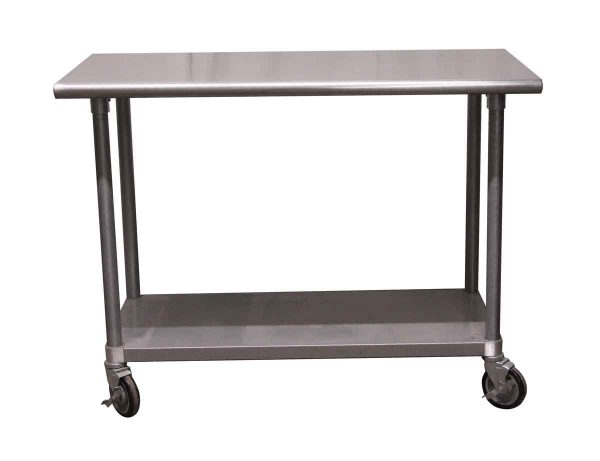 Kitchen - 4 Foot Steel Rolling Table
