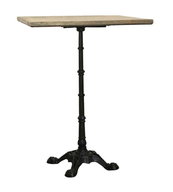 Kitchen & Dining - High Top Table with Ornate Cast Iron Base