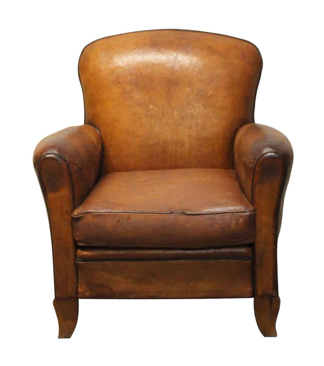 French Leather Vintage Club Chair