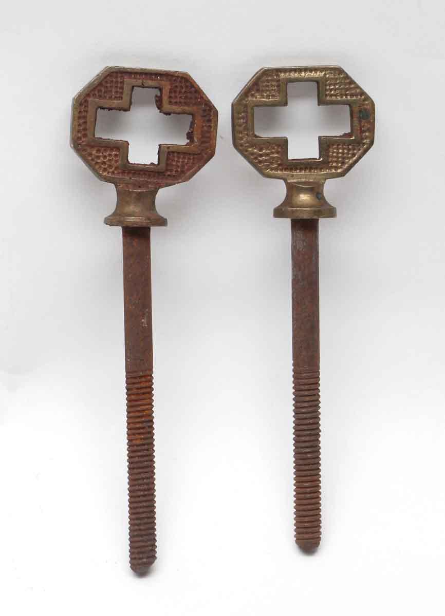 Pair Of Brass Arts Amp Crafts Cheval Mirror Screws Olde