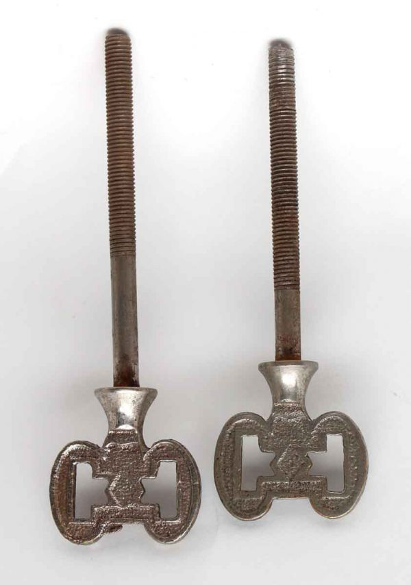 Other Cabinet Hardware - Pair of Nickel Arts & Crafts Cheval Mirror Screws