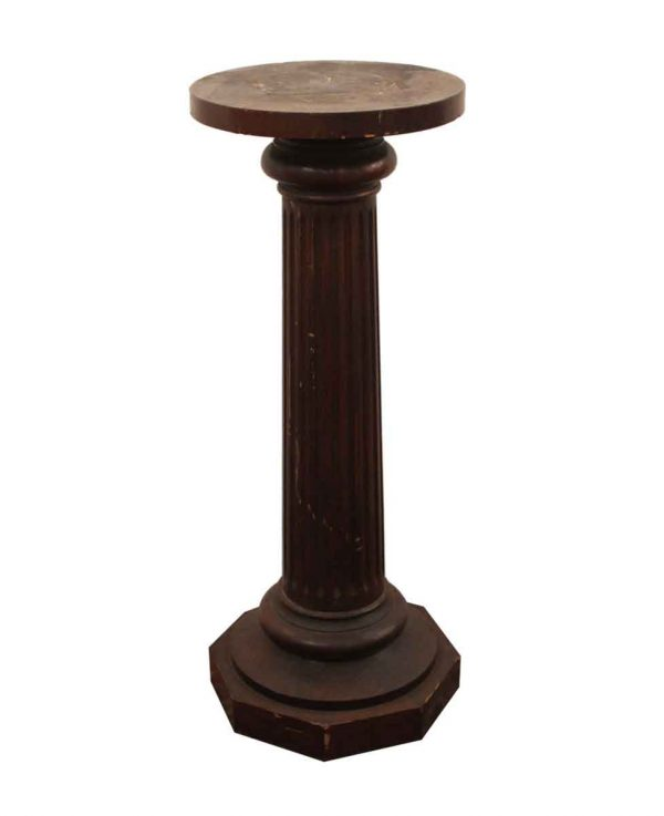 Pedestals - Slightly Worn Wooden Pedestal