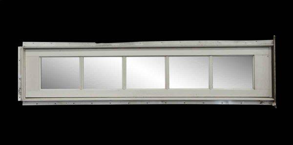 Reclaimed Windows - 5 Pane Horizontal White Window