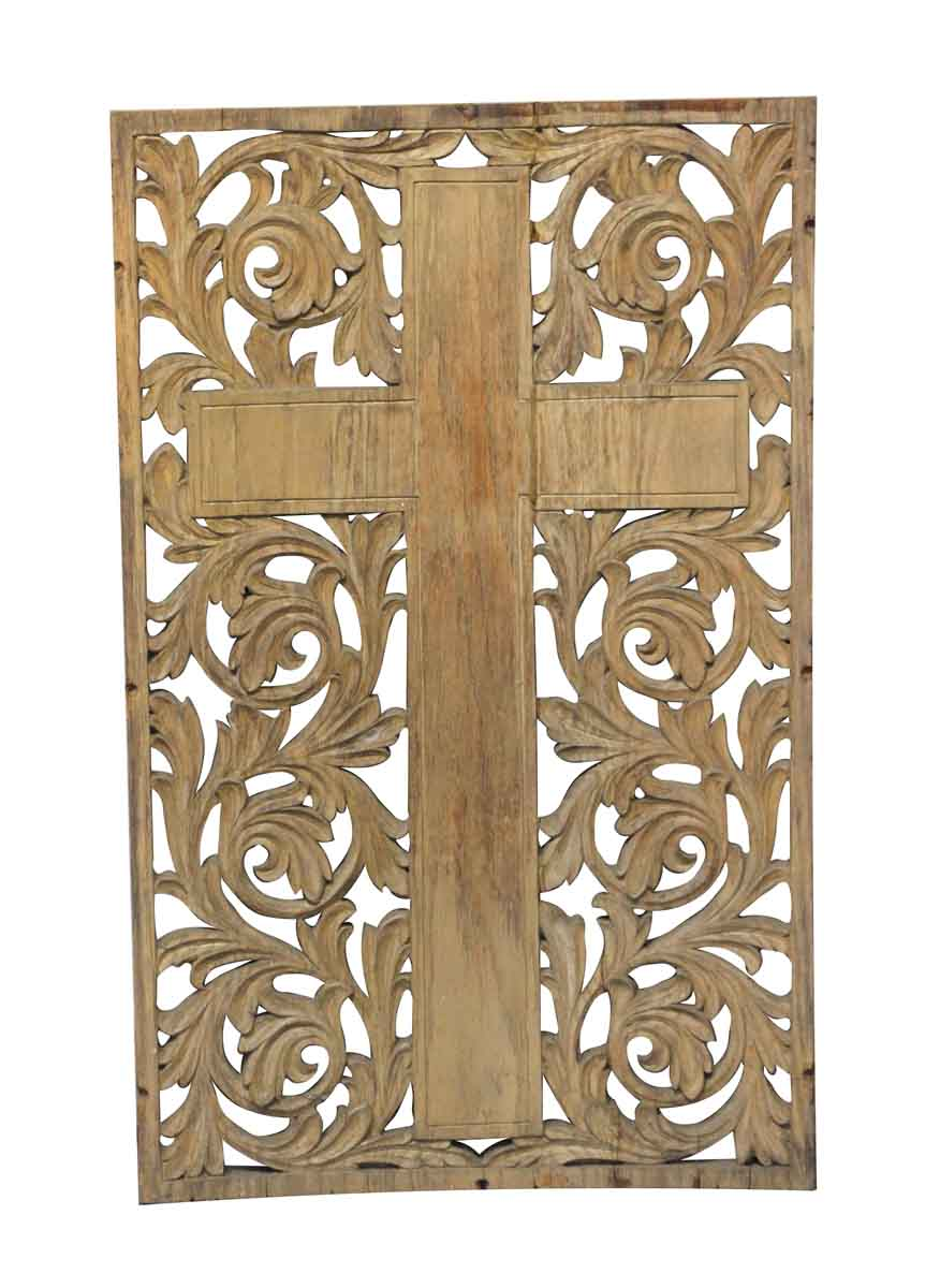 Carved Wooden Cross Wall Art