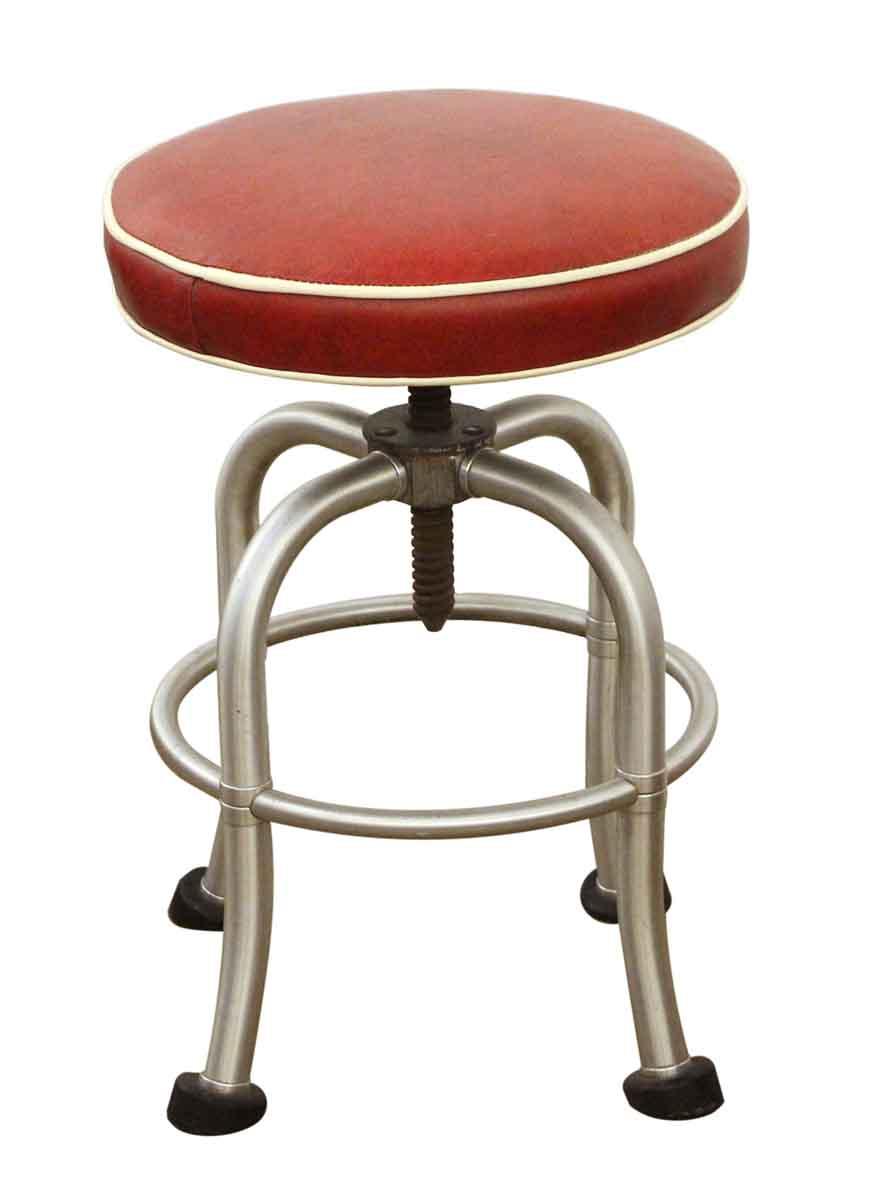 Fantastic Warren Mcarthur Red Leather Stool Uwap Interior Chair Design Uwaporg