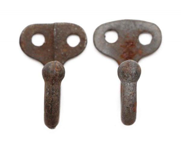 Single Hooks - Cast Iron Pair of Antique Hooks