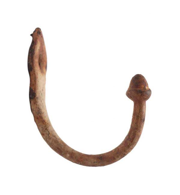 Single Hooks - Painted Cast Iron Vintage Small Hook