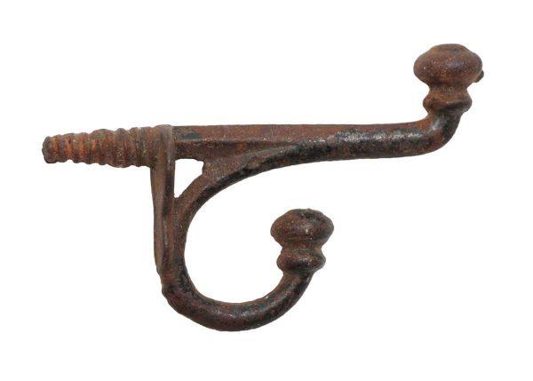 Single Hooks - Single Antique Cast Iron 2.875 in. Wall Hook