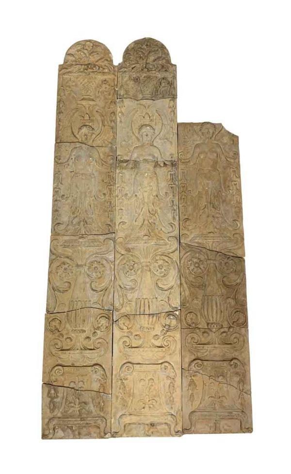 Stone & Terra Cotta - Arched Stone Figural Surround Set