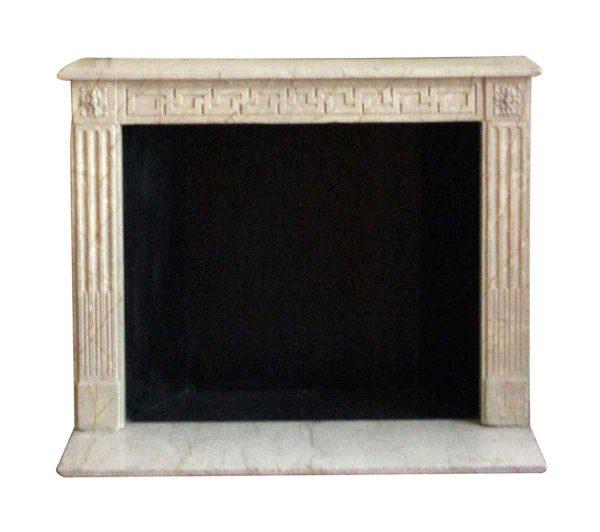 Waldorf Astoria - French Regency Limestone Louis XVI Mantel with Greek Key Motif