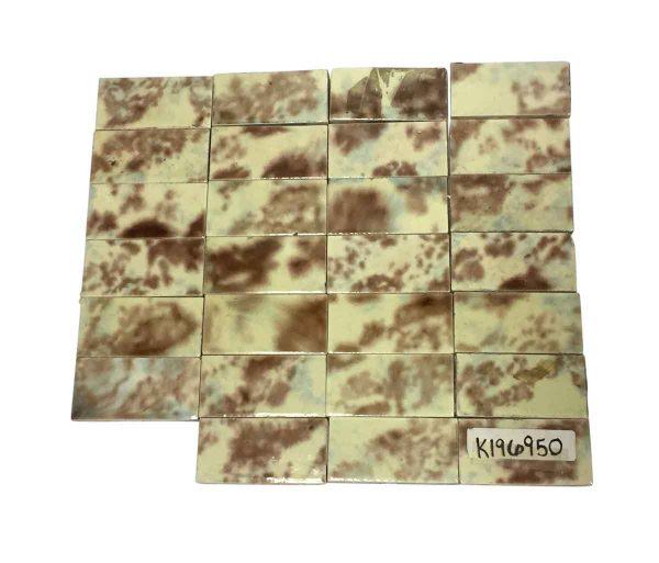 Wall Tiles - 4.25 x 2 Mixed Brown & Tan Ceramic Tiles
