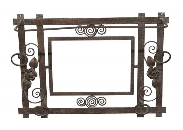 Antique Mirrors - Hammered Wrought Iron Wall Mirror Frame