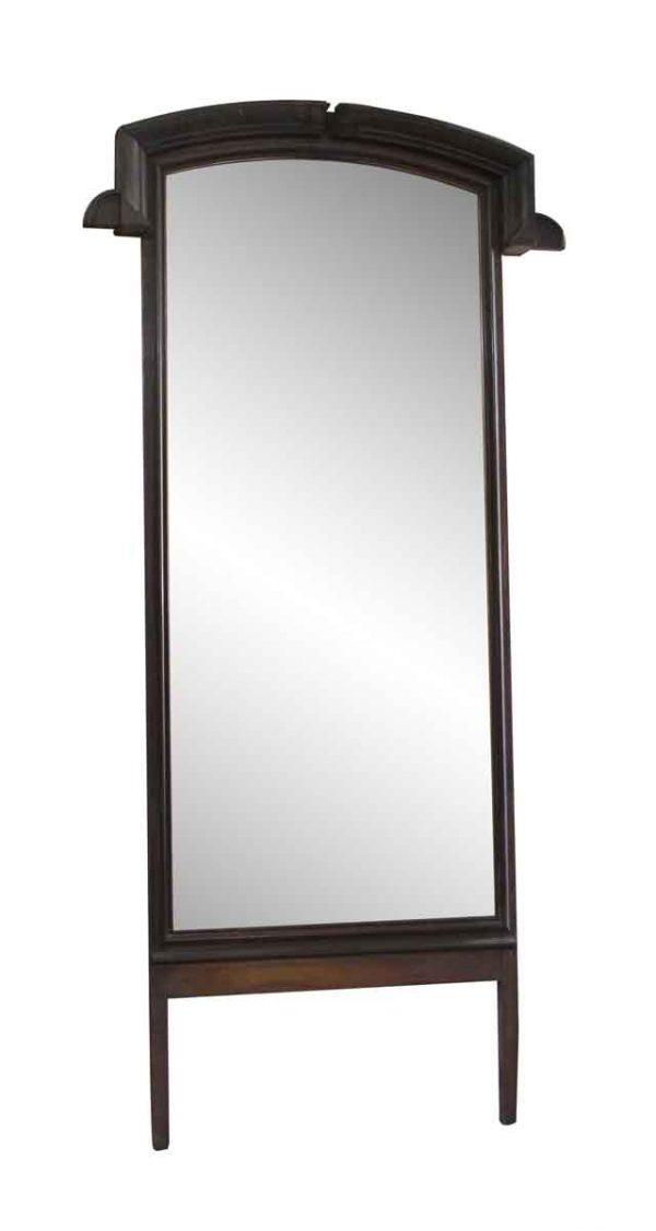 Antique Mirrors - Tall Dark Wood Tone Paneled Mirror
