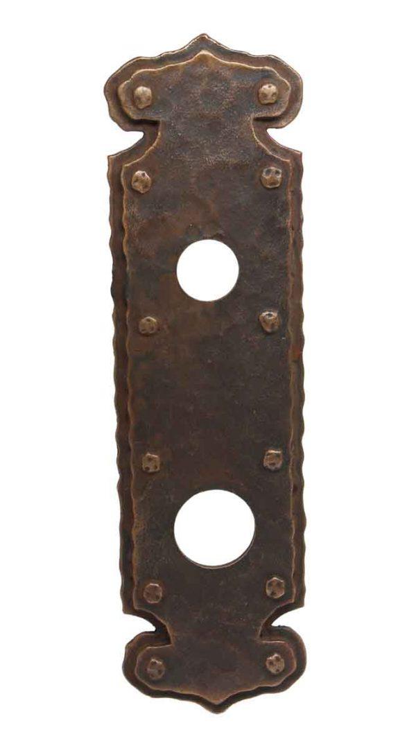 Back Plates - Hammered Arts & Crafts Brass or Bronze Door Back Plate