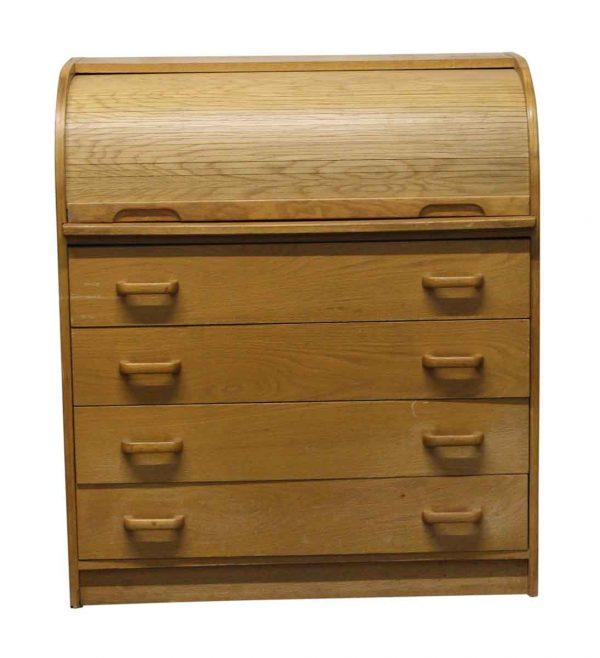 Bedroom - Light Wood Tone Small Roll Top Dresser