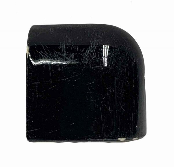 Bull Nose & Cap Tiles - 0.25 in. Thick Black End Cap Tile