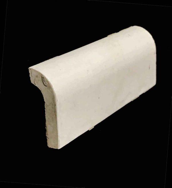 Bull Nose & Cap Tiles - 0.25 in. Thick Plain Off White Cap Tile