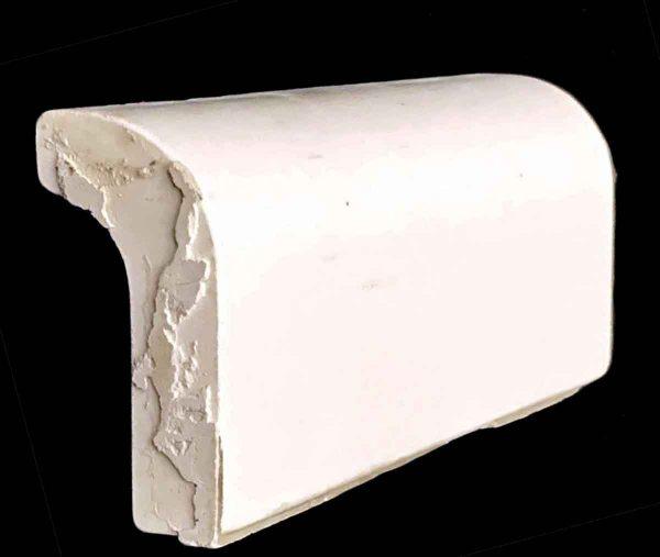 Bull Nose & Cap Tiles - 0.5 in. Thick Plain White Cap Tile