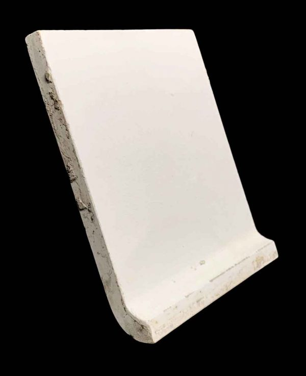 Bull Nose & Cap Tiles - 5.875 Square Off White Baseboard Cap Tile