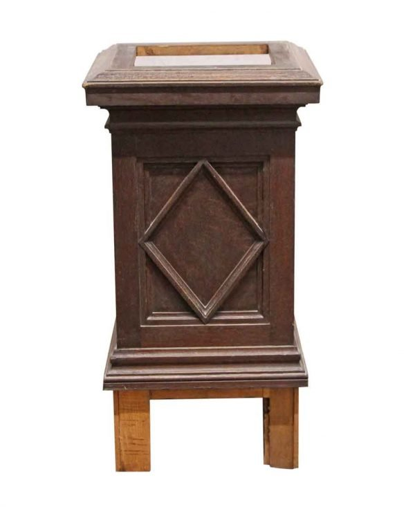 Columns & Pilasters - Square Oak Column Base from Rose Hill
