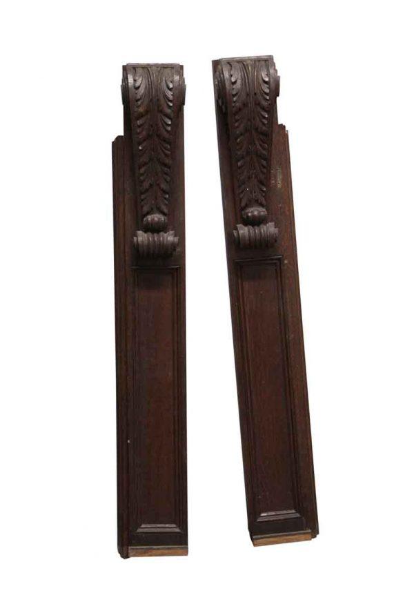Corbels - Pair of Carved Antique Oak Corbels