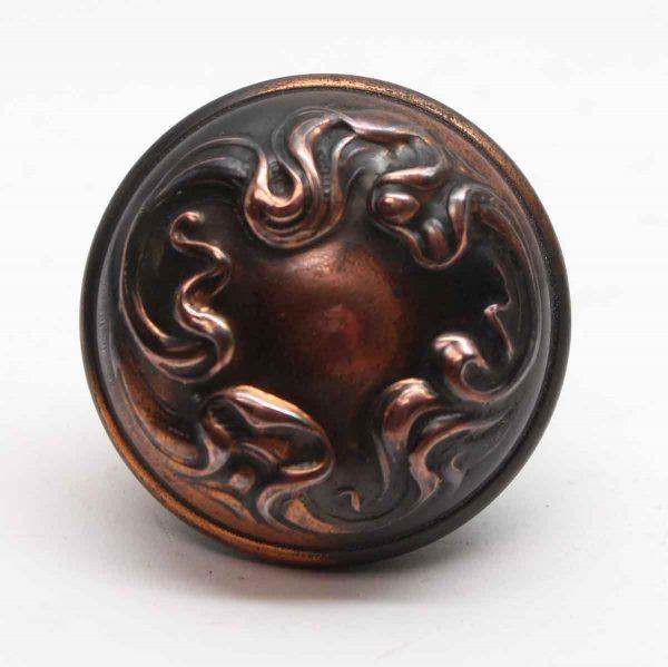 Door Knobs - Sargent Art Nouveau Japanned Asymmetrical Alby Door Knob