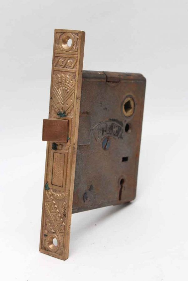 Door Locks - BLW Cast Iron Mortise Lock with a Brass Faceplate