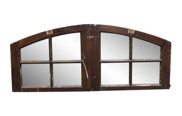 Door Transoms - Pair of 65.5 x 27.75 Gothic Arched Window Transoms