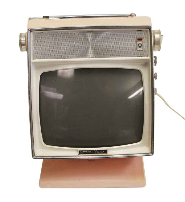 Electronics - Petite Vintage Pink JVC Nivico Vision TV
