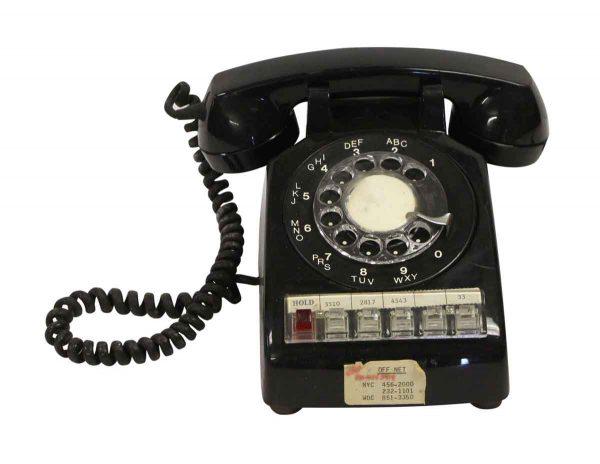Electronics - Vintage Black ITT G Type Rotary Office Phone