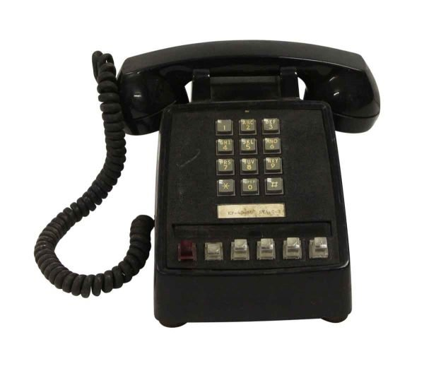 Electronics - Vintage Black ITT Push Button Office Phone