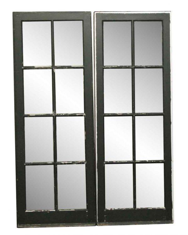 Entry Doors - Pair of Cherry & Glass Exterior Doors