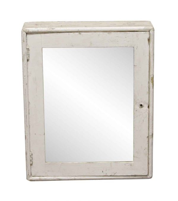 Flea Market - Distressed Wooden Medicine Cabinet with Mirror