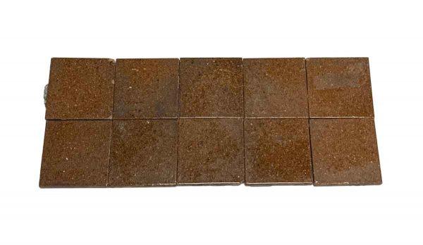 Floor Tiles - Antique 4.125 in. Brick Brown Floor Tile Set