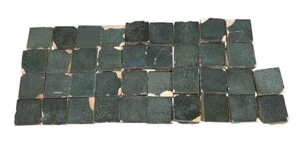 Floor Tiles - Blue Matte Textured Floor Tile Set