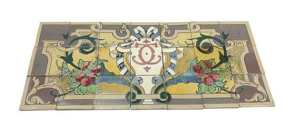 Floor Tiles - Colorful Ornate Floor Mural Tile Set