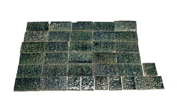 Floor Tiles - Dark Green Textured Floor Tile Set