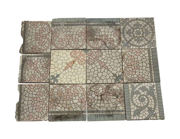 Floor Tiles - Encaustic Decorative Floor Tile Set
