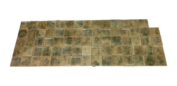Floor Tiles - Green & Tan Matte Floor Tile Set