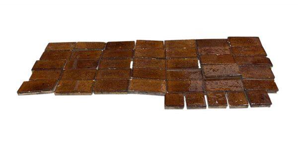 Floor Tiles - Shiny Textured Brown Floor Tile Set