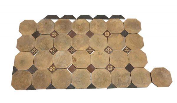 Floor Tiles - Tan Octagon Floor Tile Set