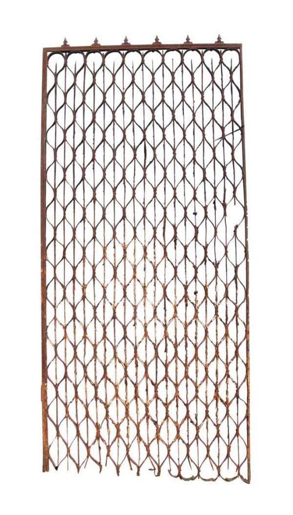 Garden Elements - New York Brownstone Wrought Iron Trellis Gate