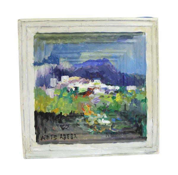 Hand Painted Panels - Abstract Scenic Addis Abeba Mladen Novak Panel