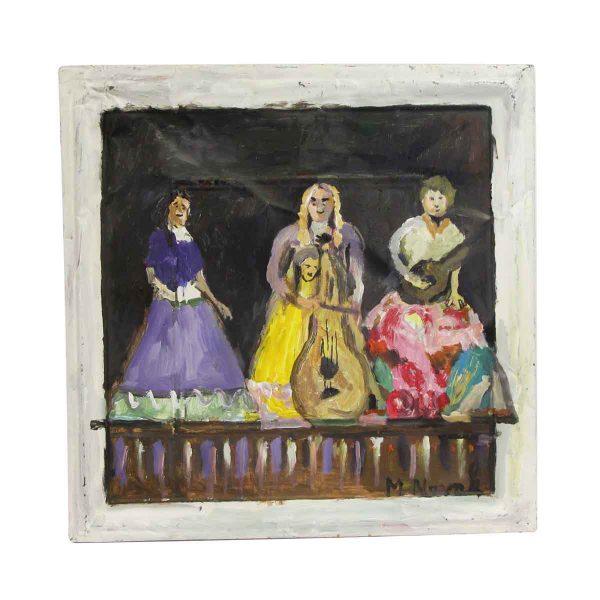 Hand Painted Panels - Acrylic Portrait Mladen Novak Tin Panel