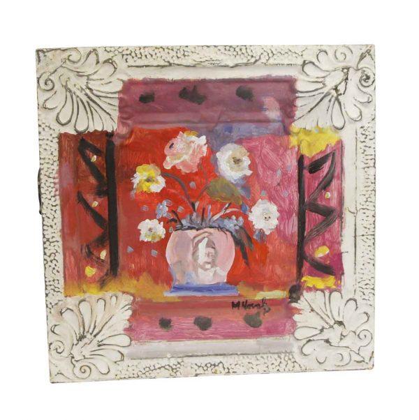 Hand Painted Panels - Floral Still Life Mladen Novak Tin Panel