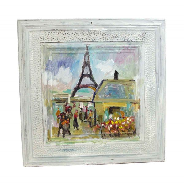 Hand Painted Panels - French Mladen Novak Tin Panel Painting