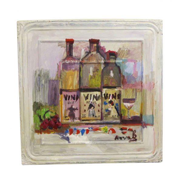 Hand Painted Panels - Mladen Novak Vino Tin Panel