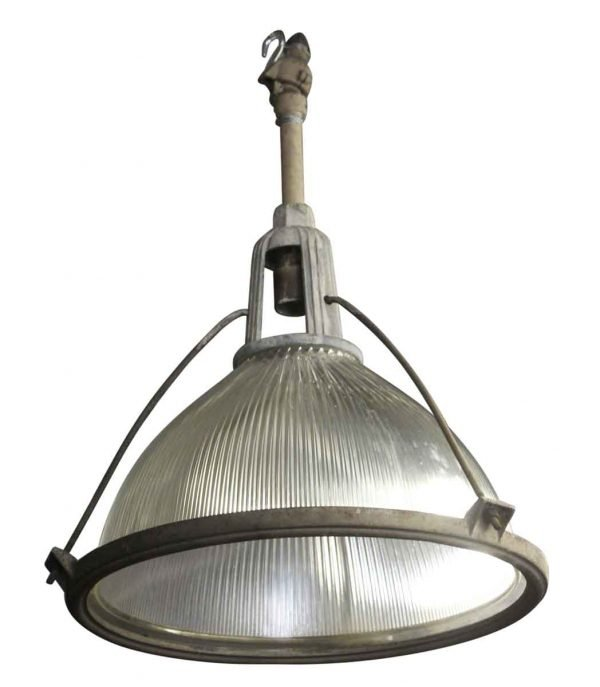 Industrial & Commercial - Large Industrial Holophane Lights with Art Deco Fixture