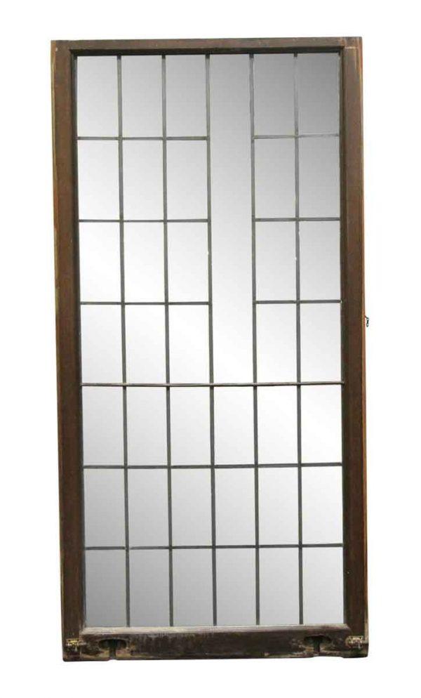 Leaded Glass - 66.5 x 33 Antique Leaded Glass Window
