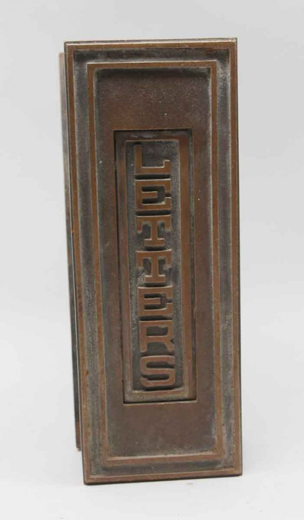 Mail Hardware - Bronze Vertical Letter Door Mount Mail Slot